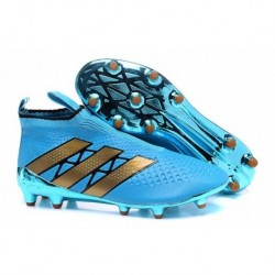 Adidas ACE 16 + Purecontrol FG Crampons de football Bleu Rose Or Colourway