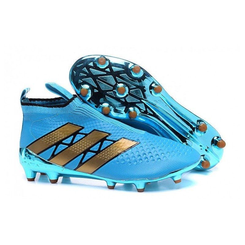 Adidas ACE 16 Purecontrol FG Crampons de football Bleu Rose Or Colourway
