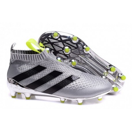 Adidas ACE 16+ Purecontrol FG Crampons de football Metallic Argent Colourway