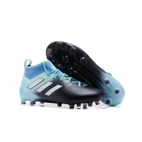 Adidas ACE 17 Primeknit Ocean Storm FG Crampons de football - Energy Aqua / Blanc / Legend Ink